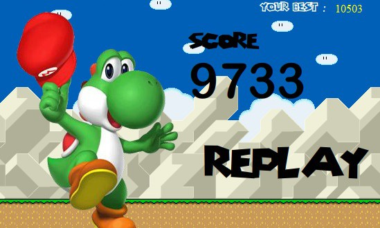 Yoshi Egg Throwing Screenshot